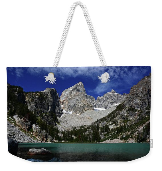 The Grand And Mount Owen From Delta Lake Weekender Tote Bag