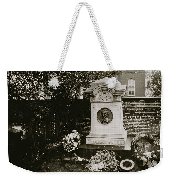 The Grave Of Edgar Allan Poe Weekender Tote Bag