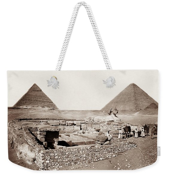The Great Sphinx And Pyramids - 1867 Weekender Tote Bag