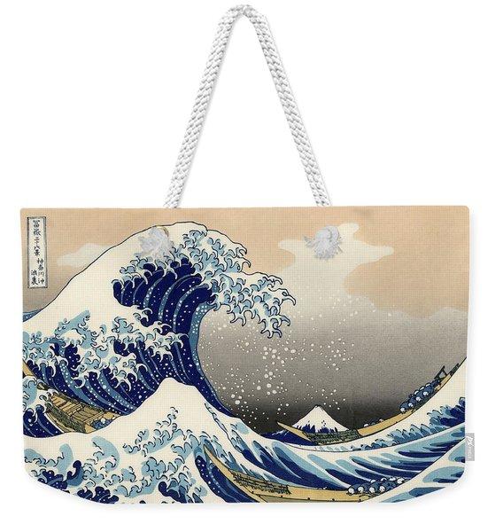 The Great Wave Off Kanagawa Weekender Tote Bag