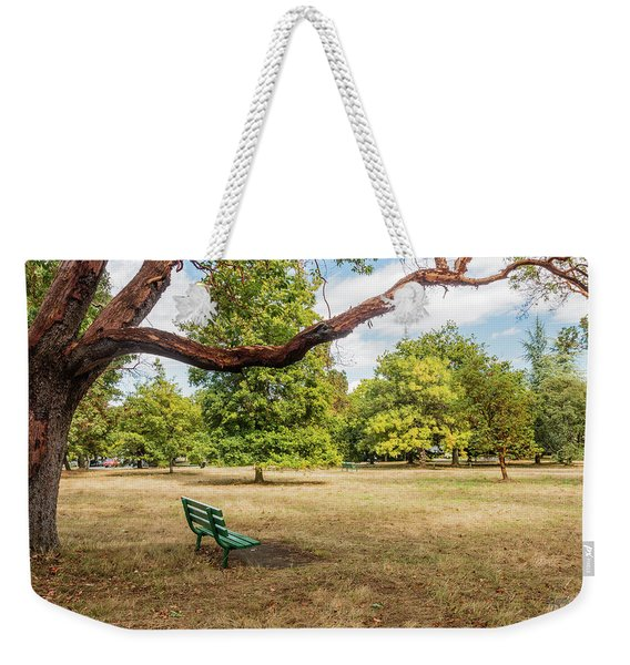 The Green Bench Weekender Tote Bag