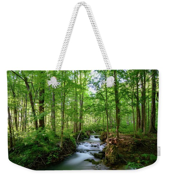 The Green Forest Weekender Tote Bag