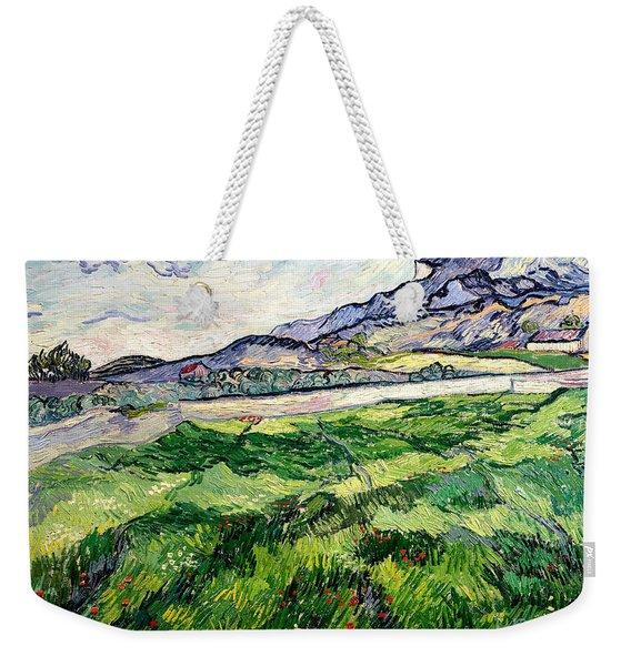 The Green Wheatfield Behind The Asylum Weekender Tote Bag
