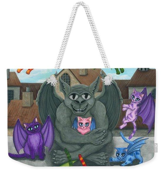 The Guardian Gargoyle Aka The Kitten Sitter Weekender Tote Bag