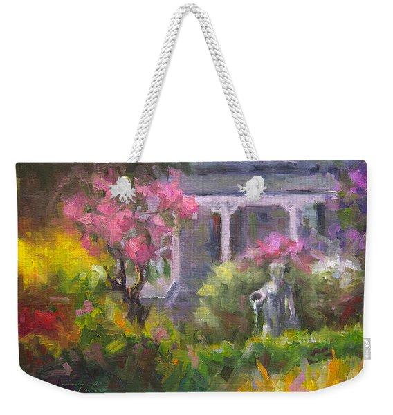 The Guardian - Plein Air Lilac Garden Weekender Tote Bag