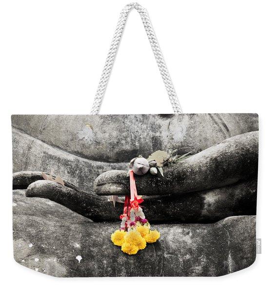 The Hand Of Buddha Weekender Tote Bag
