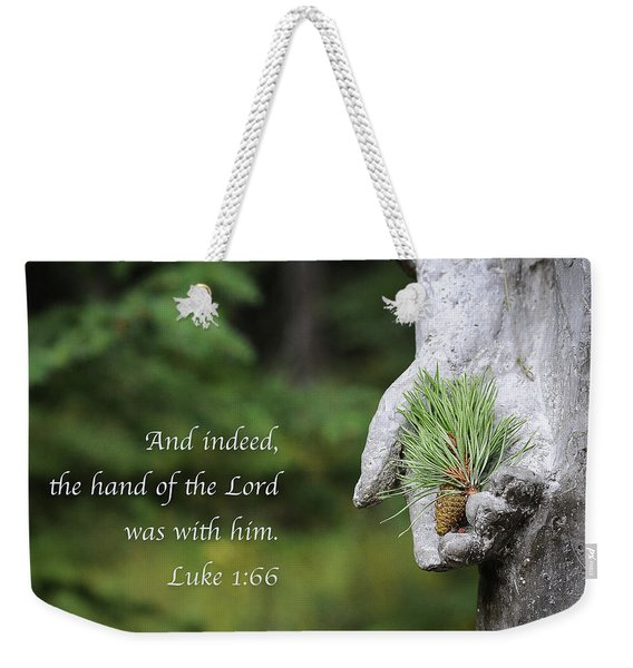 The Hand Of The Lord Weekender Tote Bag
