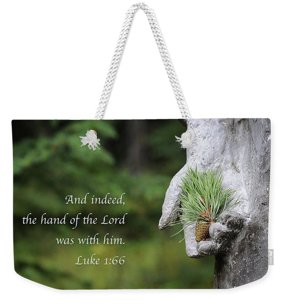 Weekender Tote Bag featuring the photograph The Hand Of The Lord by Mary Lee Dereske