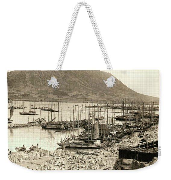 The Harbor In Fusan, Korea Weekender Tote Bag