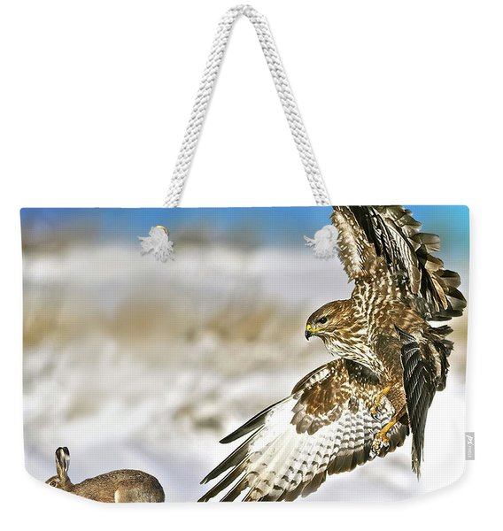 The Hawk And The Hare Weekender Tote Bag