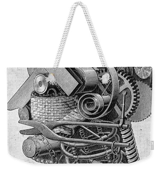 The Head Of An Inventor Weekender Tote Bag