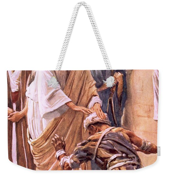 The Healing Of The Leper Weekender Tote Bag