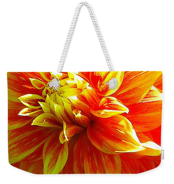 The Heart Of A Dahlia #2 Weekender Tote Bag
