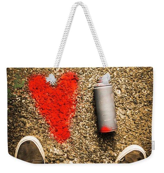 The Heart Of A Vandal Weekender Tote Bag