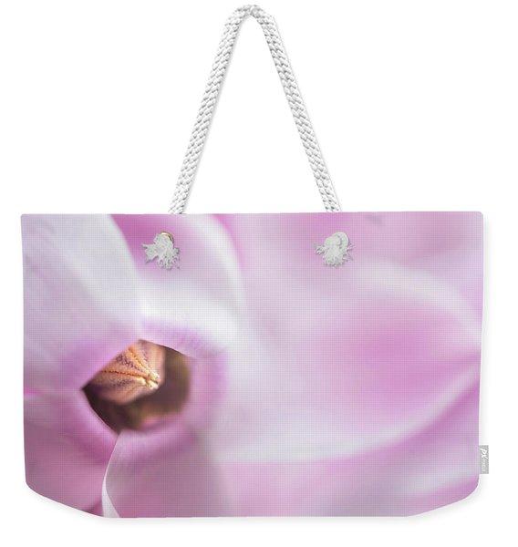 The Heart Of Cyclamen Weekender Tote Bag