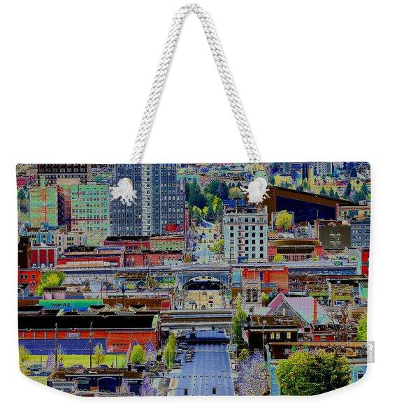 The Heart Of Downtown Spokane  Weekender Tote Bag