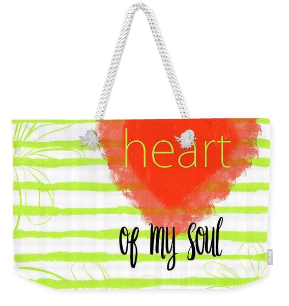 The Heart Of My Soul Weekender Tote Bag