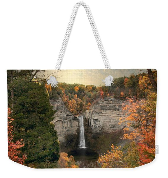 The Heart Of Taughannock Weekender Tote Bag