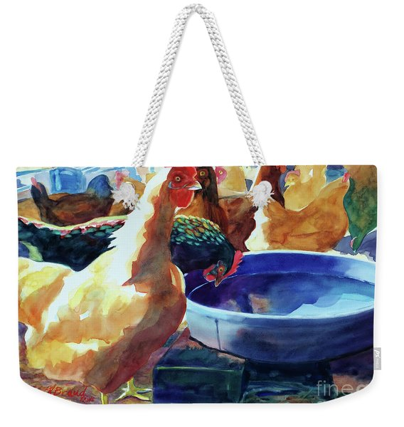 The Henhouse Watering Hole Weekender Tote Bag