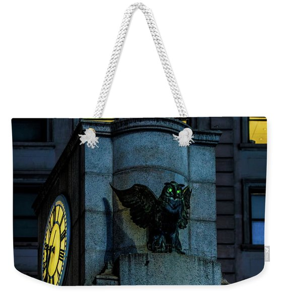 The Herald Square Owl Weekender Tote Bag
