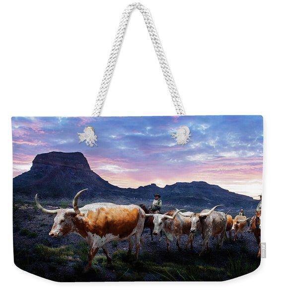 Texas Longhorns Blue Weekender Tote Bag