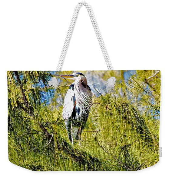 The Heron's Whiskers Weekender Tote Bag