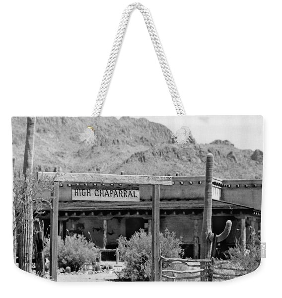 The High Chaparral Set With Sign Old Tucson Arizona 1969-2016 Weekender Tote Bag