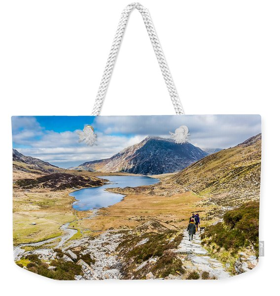 Weekender Tote Bag featuring the photograph The Hike Back Down by Nick Bywater