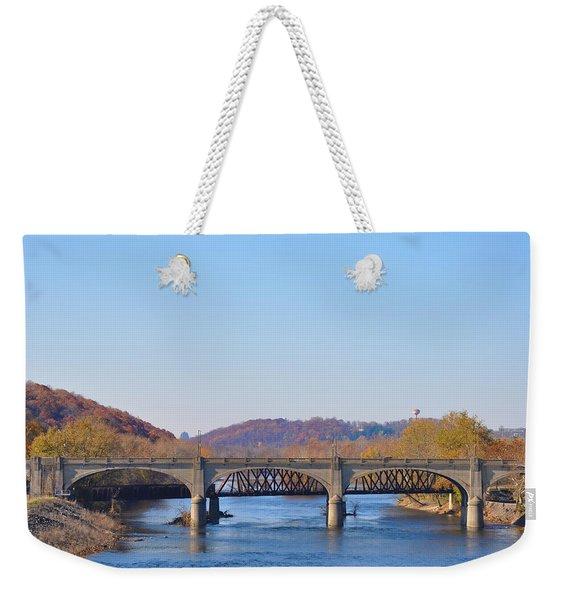 The Hill To Hill Bridge - Bethlehem Pa Weekender Tote Bag