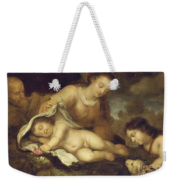 The Holy Family With Infant Saint John The Baptist Weekender Tote Bag