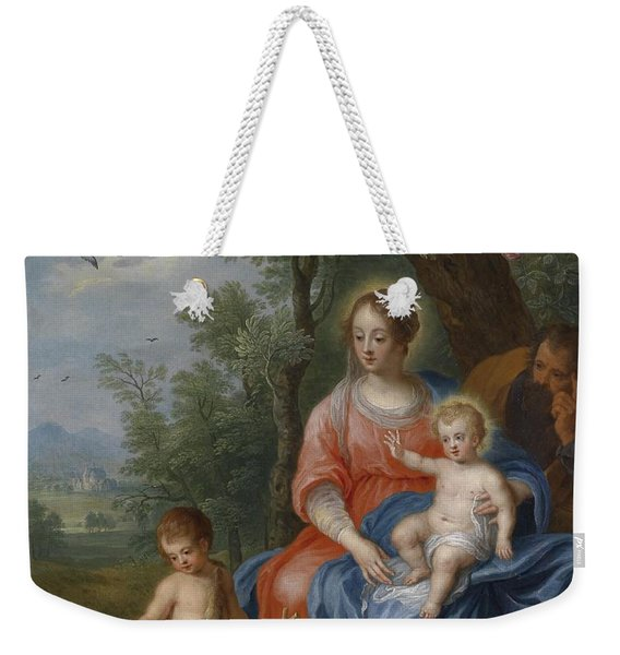 The Holy Family With John The Baptist And The Lamb Weekender Tote Bag
