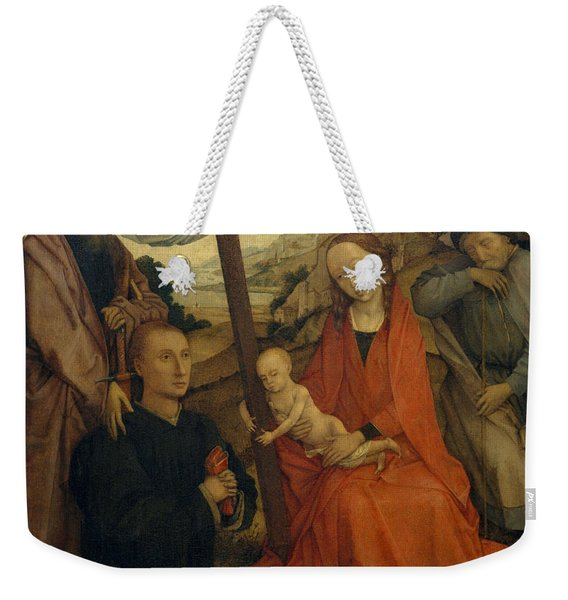 The Holy Family With Saint Paul And A Donor Weekender Tote Bag