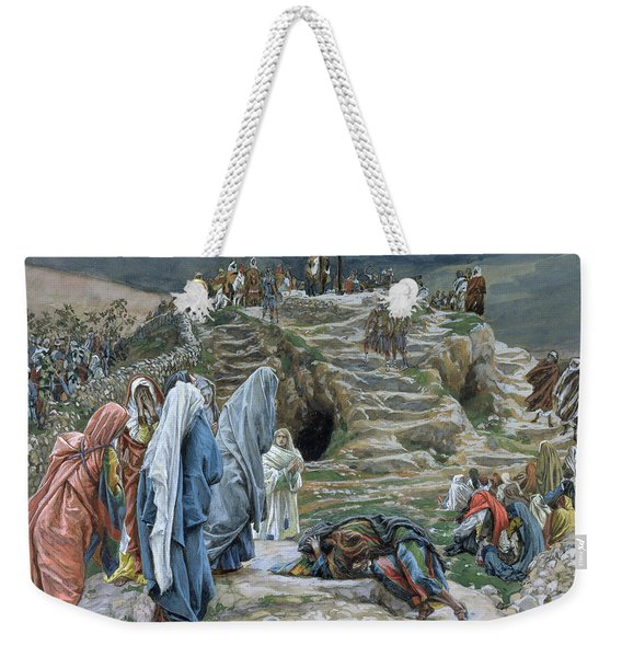 The Holy Women Stand Far Off Beholding What Is Done Weekender Tote Bag