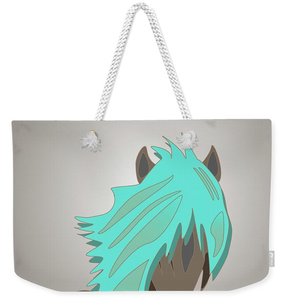 The Horse With The Turquoise Mane Weekender Tote Bag