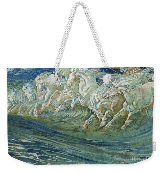 The Horses Of Neptune Weekender Tote Bag