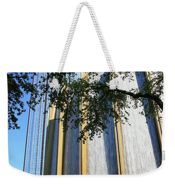 The Houston Water Wall And Williams Tower Weekender Tote Bag
