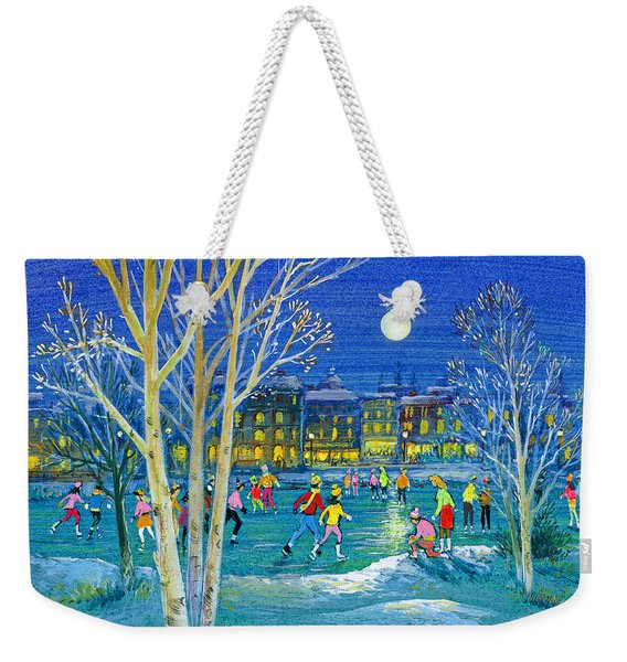 The Iceskaters Weekender Tote Bag