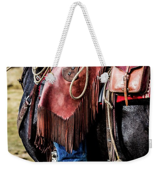 The Idaho Cowboy Western Art By Kaylyn Franks Weekender Tote Bag