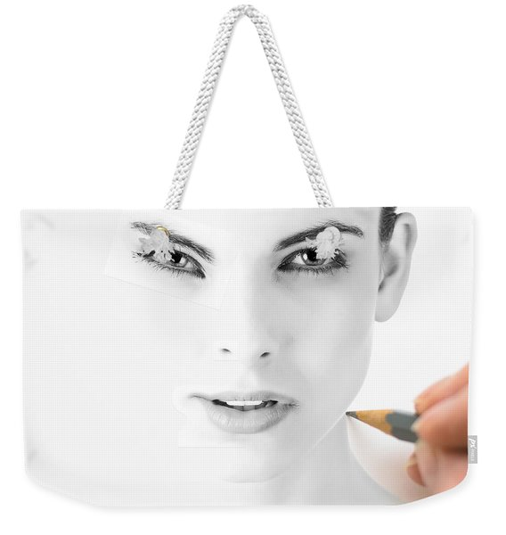 Weekender Tote Bag featuring the digital art The Illusion Of Perfection by ISAW Company