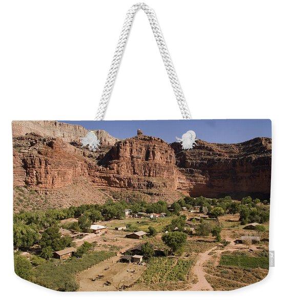 The Indian Village Of Supai Sits Weekender Tote Bag