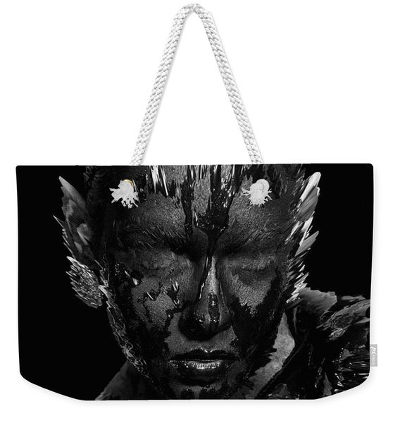 Weekender Tote Bag featuring the digital art The Inner Demons Coming Out by ISAW Company