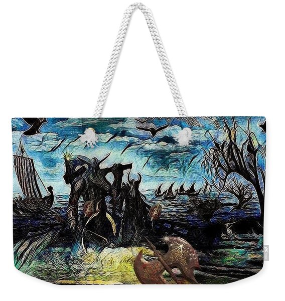 The Insurperable Guard Of The Land Of Danes And Brave Vikings Weekender Tote Bag