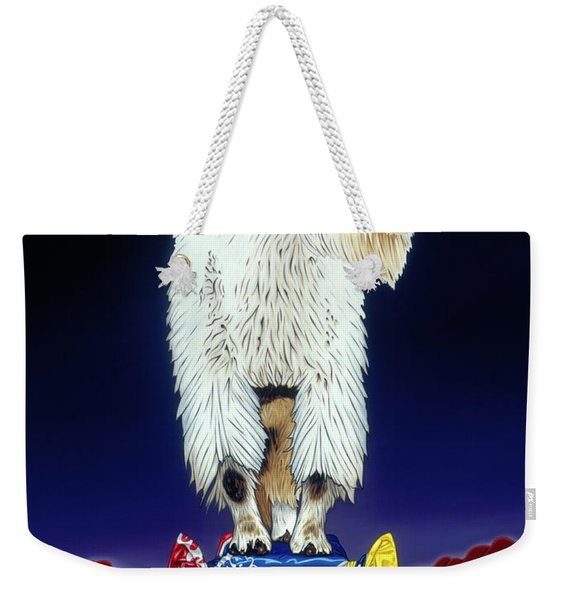 The Intoxicated Mountain Goat Weekender Tote Bag