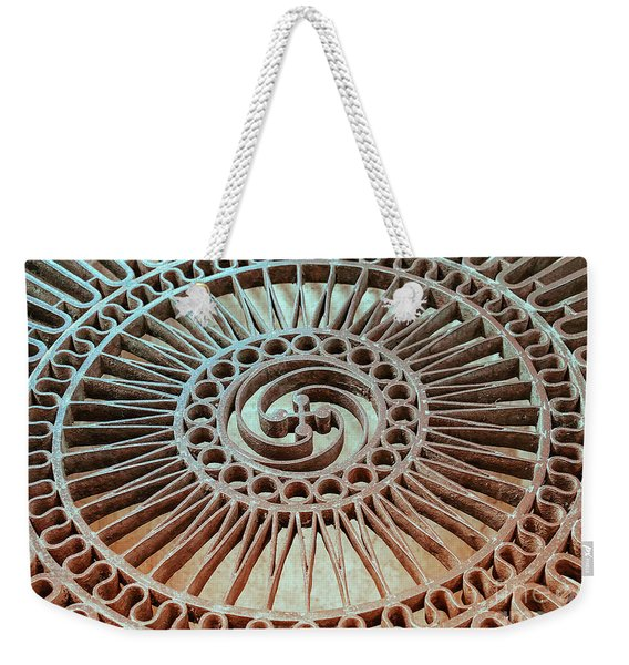 The Iron Lattice Weekender Tote Bag