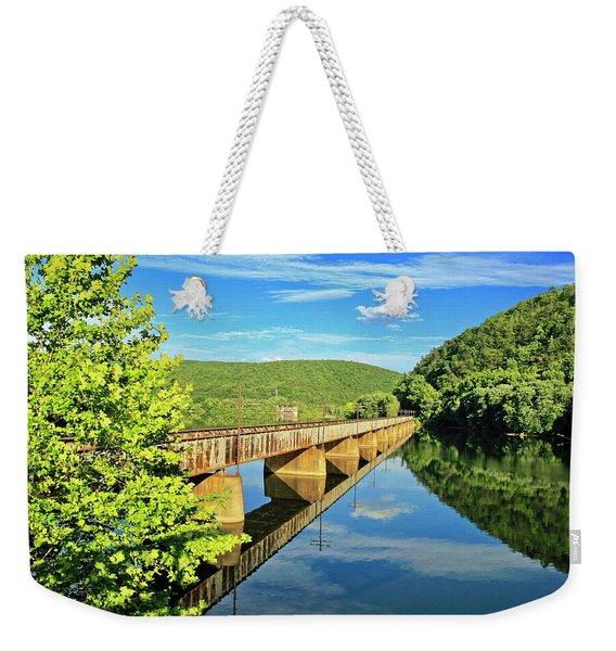 The James River Trestle Bridge, Va Weekender Tote Bag