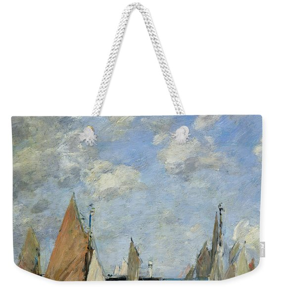 The Jetty At High Tide Weekender Tote Bag
