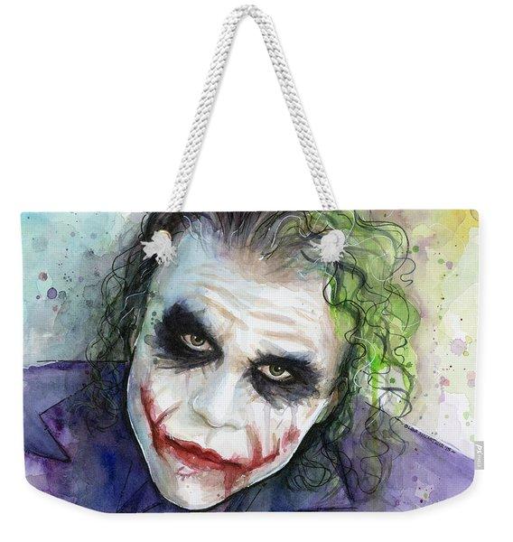 The Joker Watercolor Weekender Tote Bag