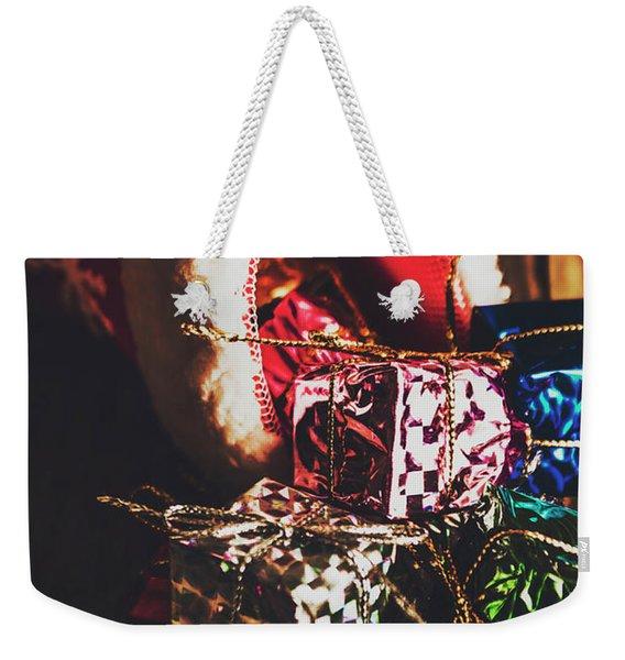 The Joy Of Giving On Christmas Weekender Tote Bag