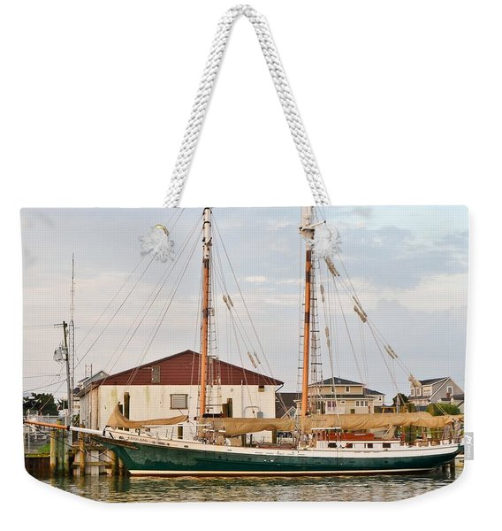 Weekender Tote Bag featuring the photograph The Kaiui Ana - Ocean City Maryland by Kim Bemis