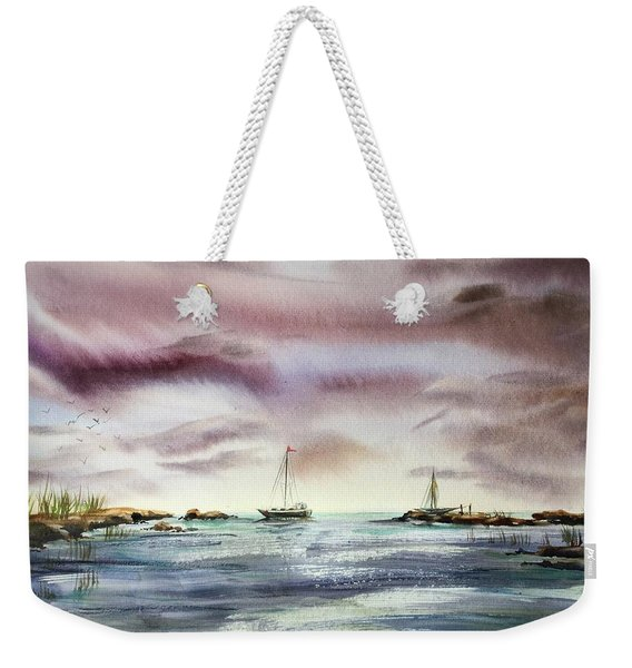 The Kiss Of The Night Weekender Tote Bag